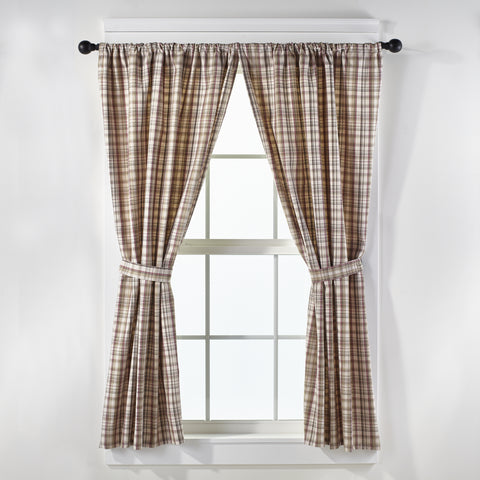 Dresden Short Panel Window Curtains Pair - 72x63 total - 2 inch rod pocket
