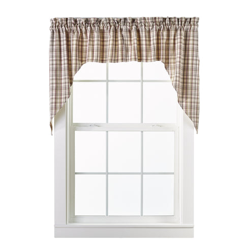 Dresden Swag Set Window Curtains Pair - 72x36 total - 2 inch rod pocket