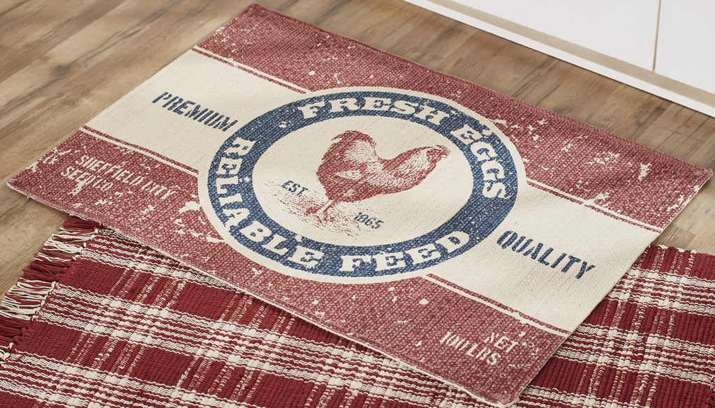 Farm Feed Rectangle Rug