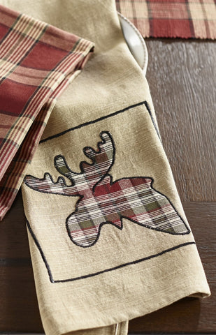 Black Moose Dishtowel