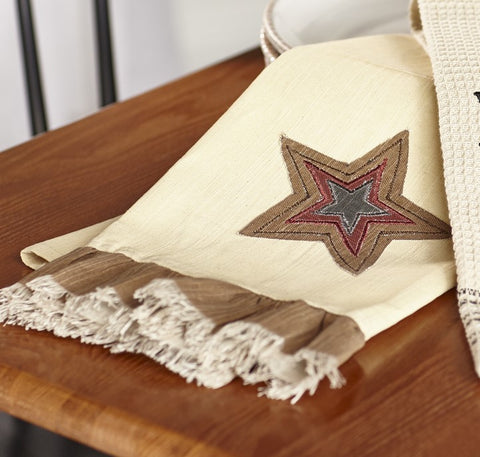 Stargazer Pino - Burgundy Red - Star Patch Dishtowel