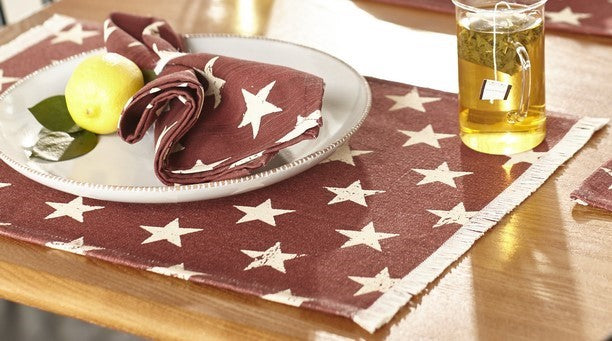 Stargazer Pino - Burgundy Red Placemat