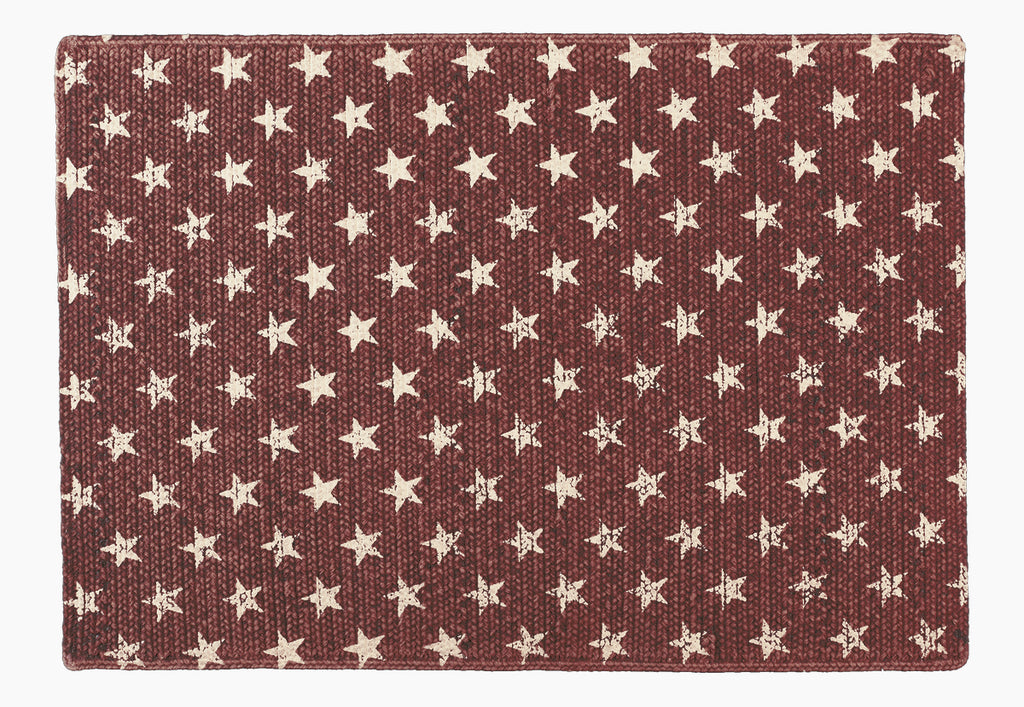 Stargazer Pino - Burgundy Red Rectangle Rug