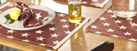 Stargazer Pino - Burgundy Red Short Table Runner
