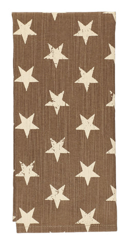 Stargazer Latte Color Dark Tan - Light Brown Dishtowel
