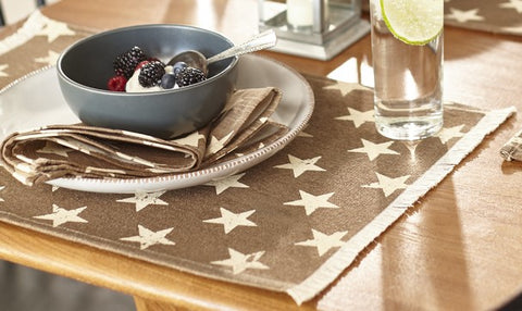 Stargazer Latte Color Dark Tan - Light Brown Placemat