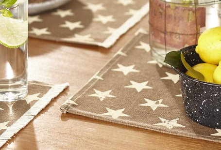 Stargazer Latte Color Dark Tan - Light Brown Short Table Runner
