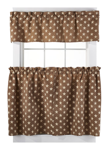 Stargazer Latte Color Dark Tan - Light Brown Valance