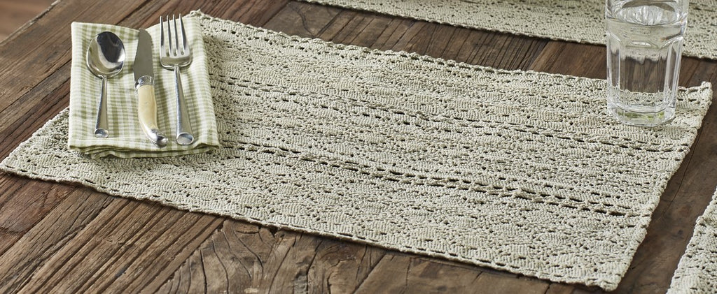 Green Lace Placemat