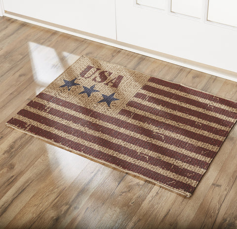 Star Spangled Rectangle Rug