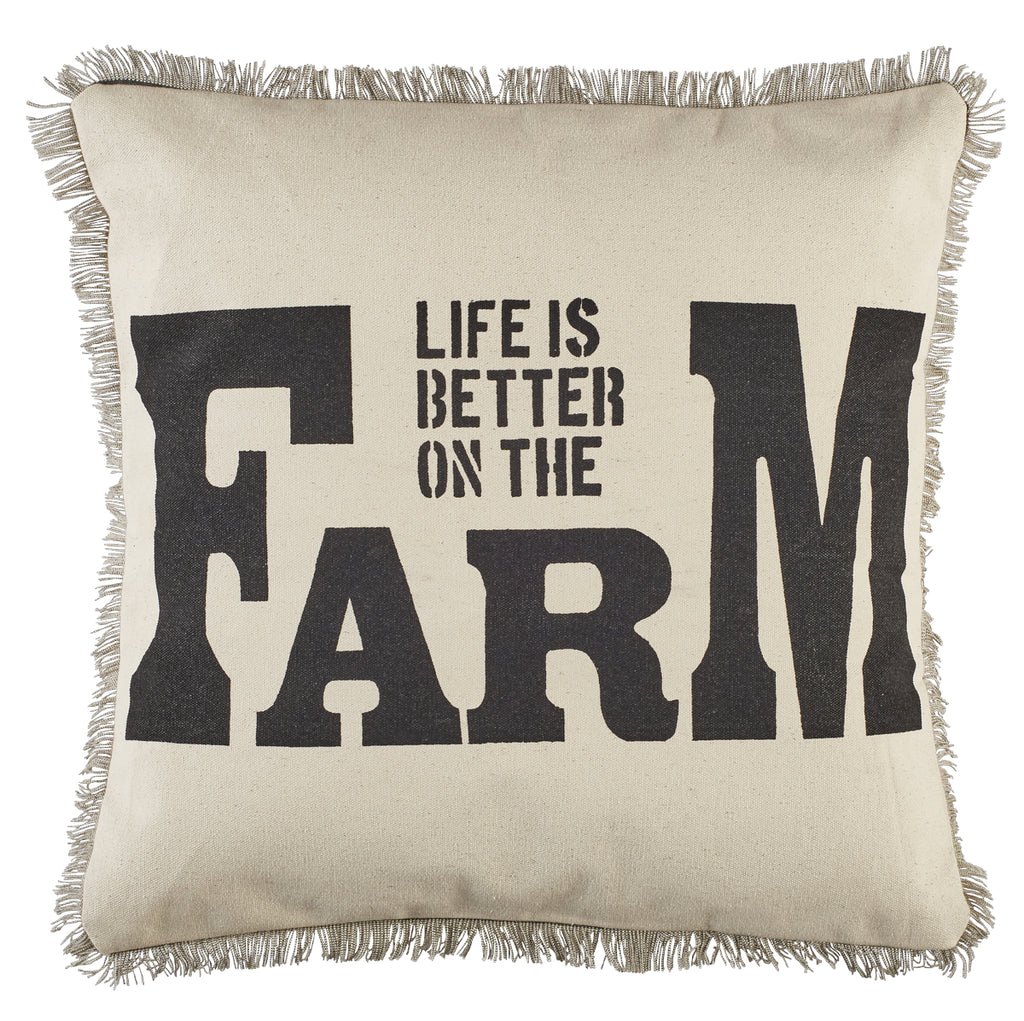 Better On The Farm Pillow