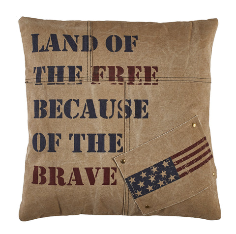 Because Of The Brave Pillow