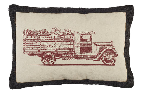 Farmer's Market Truck Pillow