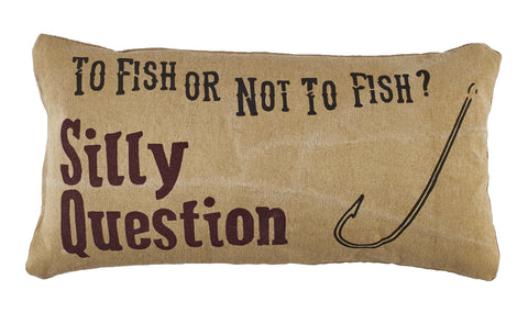 To Fish Or Not To Fish? Pillow