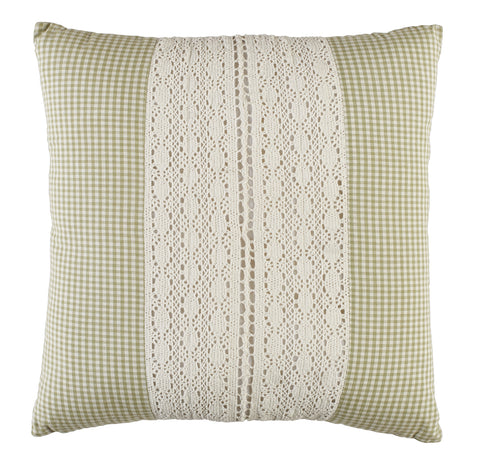 Green Lace Pillow