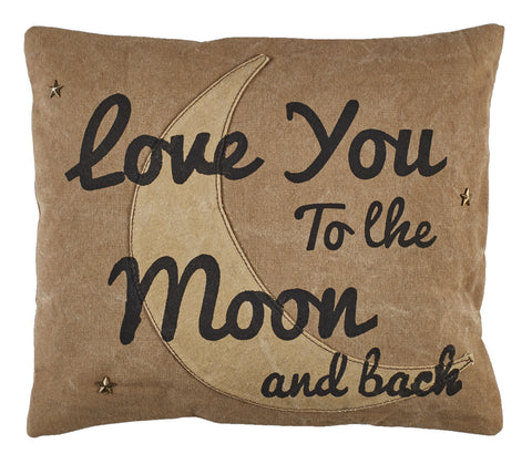 Love You Embroidered & Embellished Pillow