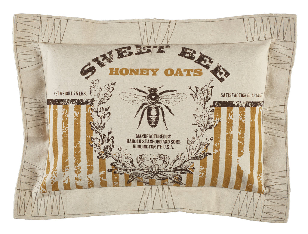 Sweet Bee Honey Oats Pillow