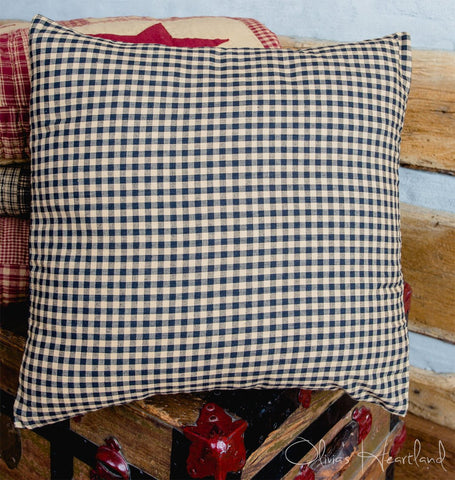 Jamestown Black and Tan Fabric Checkered Pillow Cover