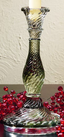 Tall Glass Candlestick Candle Holder