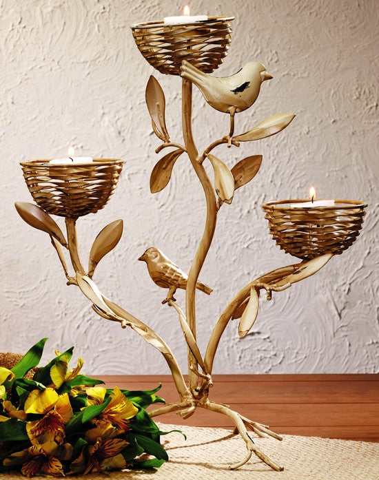 Birdnest Triple Tealight Holder