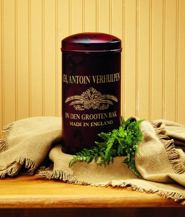 Merlot Dutch Metal Canister - for Gift Basket, Food, Fruit, Flowers, Storage, Shelf Decor