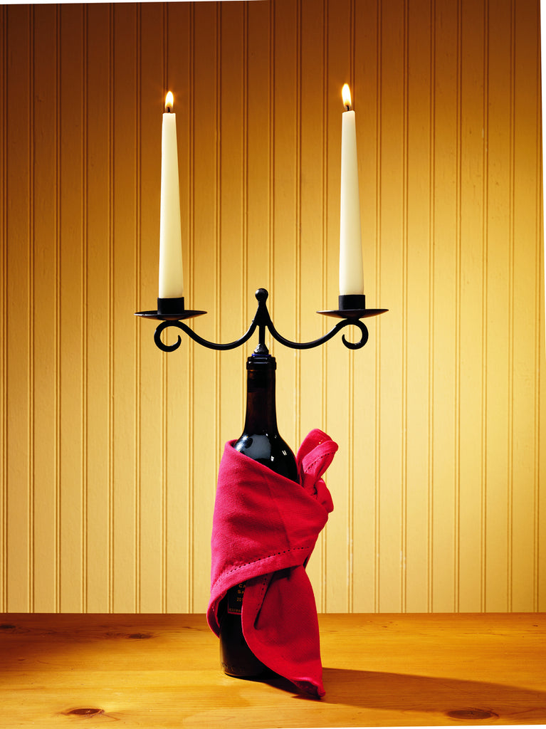 Double Taper Candle Wine Bottle Topper