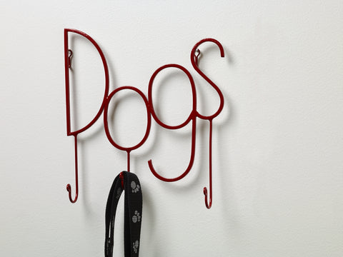 "Red ""Dog"" Metal Wall Hook"
