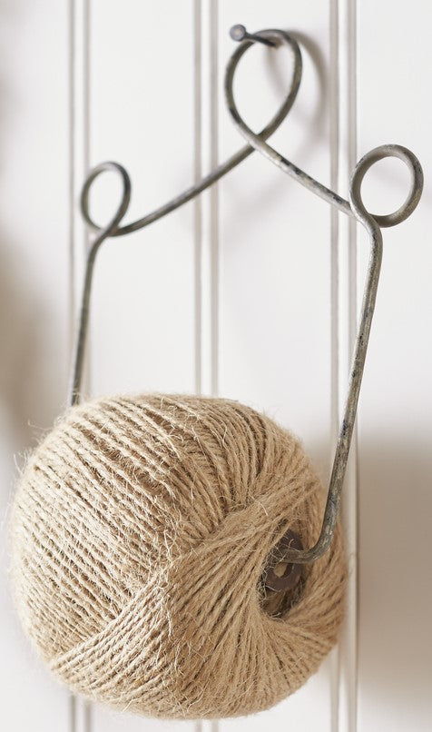 Primitive String & Yarn Holder - Country Farmhouse Home Decor Accent for Tabletop, Shelf or Wall
