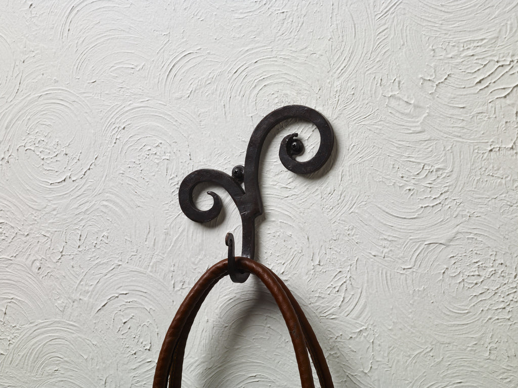 Iron Rams Horn Wall Hook