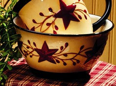 Berry Vine Bowl - Primitive Star Country Dishes Dinnerware Bowls
