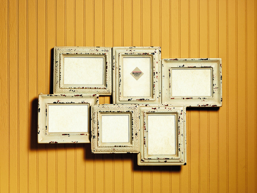 Cream Wood Collage Photo Frame