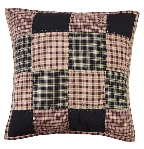 Plum Creek Quilted Block Pillow Cover