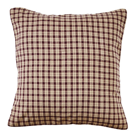 Plum Creek Plaid Fabric Pillow Cover