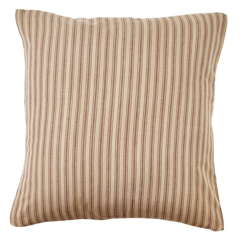 Bradford Star Striped Fabric Pillow Cover