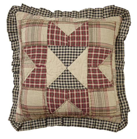 Plymouth Quilted Ruffled Pillow Cover