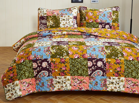Antique Bloom Quilt Set - Twin