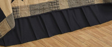 Twin Solid Black Bed Skirt