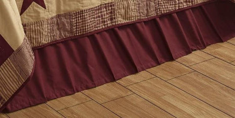 Solid Burgundy California King Bed Skirt