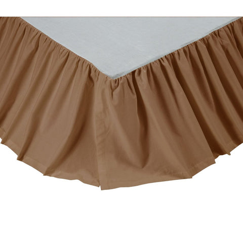 Twin Solid Tan Bed Skirt