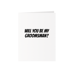 Groomsmen Greeting Card + Bag of Dicks