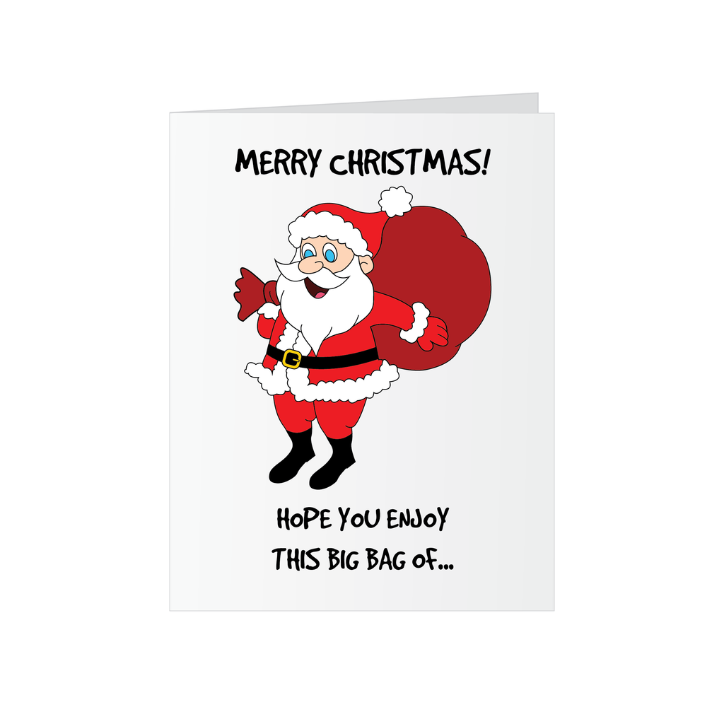Christmas Greeting Card - Eat a Bag of Dicks