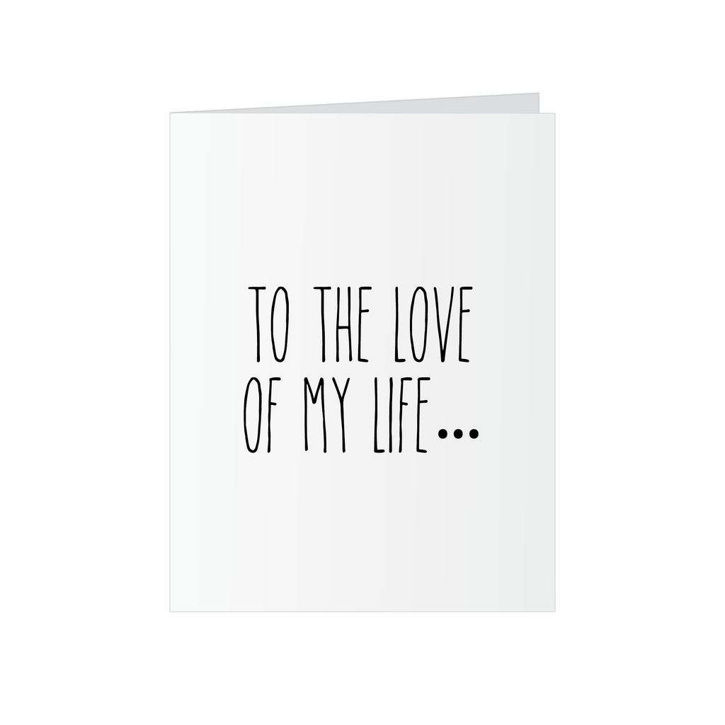 Love of My Life Pop Up Card