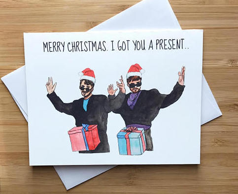 Dick in a Box Christmas Card