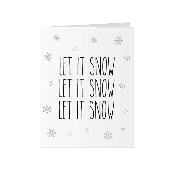 Let it Snow - Glitter Bomb Card