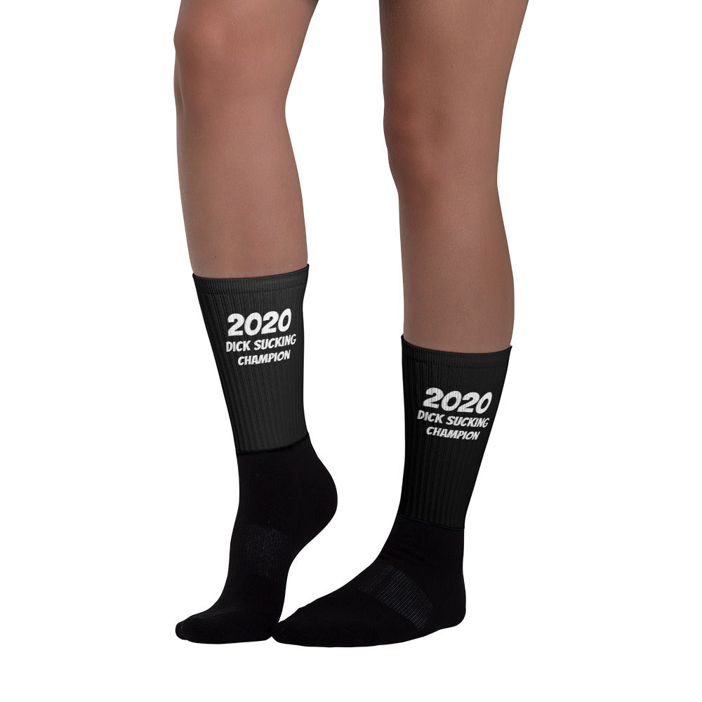 2020 Dick Sucking Champion Socks