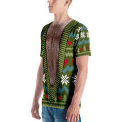 Deep V-Neck Christmas T-shirt