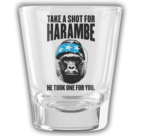 Take a Shot for Harambe Shot Glass! #DicksOut