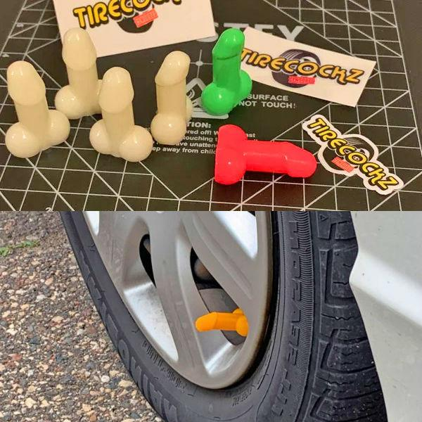 The Tire Cockz - The Penis Valve Cap Covers