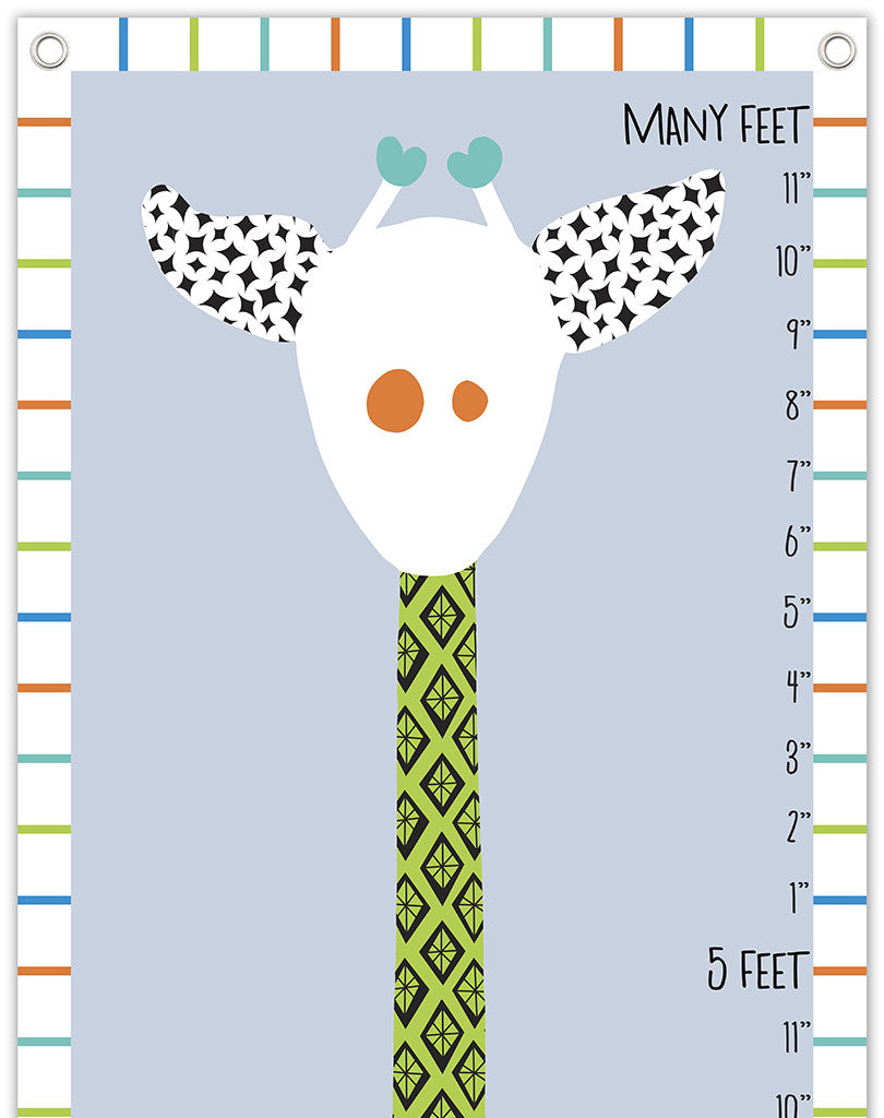 giraffe growth chart blues