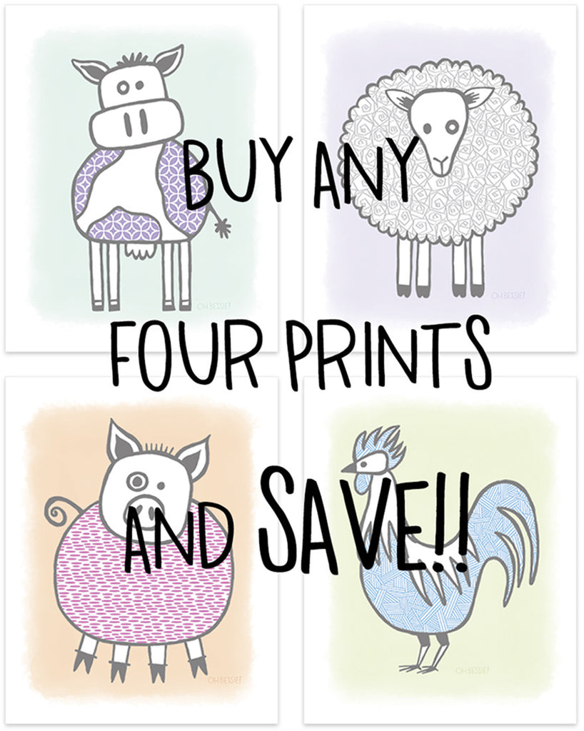 Save on Four Prints